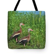 Whistling Ducks Tote Bag
