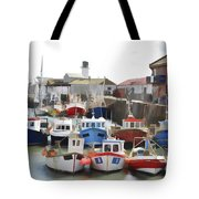 Whitby Harbour Tote Bag