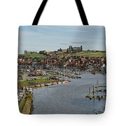 Whitby Marina And The River Esk Tote Bag