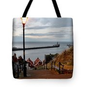 Whitby Steps Blue Hour Tote Bag