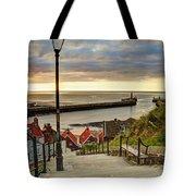 Whitby Sun Set Tote Bag