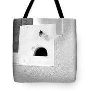White Abstract Tote Bag
