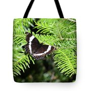 White Admiral On Tree Tote Bag