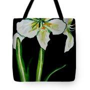 White Amaryllis Tote Bag
