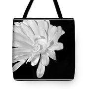 White And Black Flower Painting Tote Bag