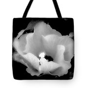 White And Black Hibiscus Flower Tote Bag