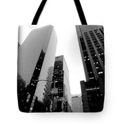 White And Black Inspiration  Tote Bag