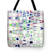 White And Blue Abstract Tote Bag