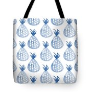 White And Blue Pineapple Party Tote Bag