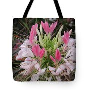 White And Pink Flower Tote Bag