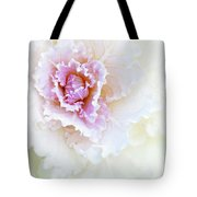 White And Pink Ornamental Kale Tote Bag