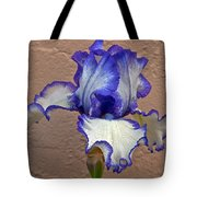 White And Purple Bearded Iris Tote Bag