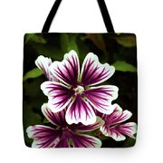 White And Purple Tote Bag