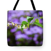White And Purple Spring Tote Bag