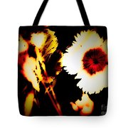White And Red Dianthus Tote Bag