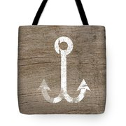 White And Wood Anchor- Art By Linda Woods Tote Bag
