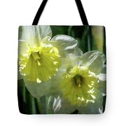White And Yellow Daffodil 8887 Idp_2 Tote Bag