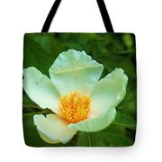 White And Yellow Flower Tote Bag