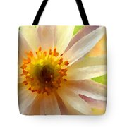 White Anemone Flower Tote Bag