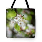 White Apple Flowers Tote Bag