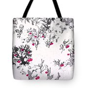 White As Snow With Cherries Tote Bag