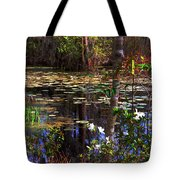 White Azaleas In The Swamp Tote Bag