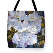 White Azaleas Tote Bag