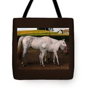 White Baby Horse Tote Bag