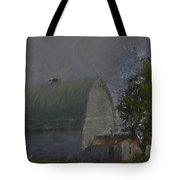 White Barn Digital Painting Tote Bag