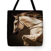 White Beautiful Horse  Tote Bag