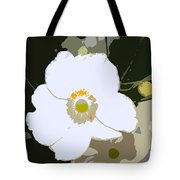 White Beauty Work Number 6 Tote Bag