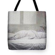 White Bed Sheet- Warmth Tote Bag