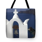 White Bell Tower Tote Bag