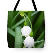 White Bells Perspective Tote Bag