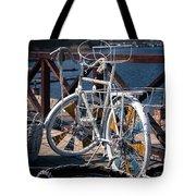 White Bike Tote Bag