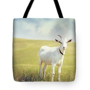 White Billy Goat Tote Bag