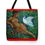 White Bird Tote Bag