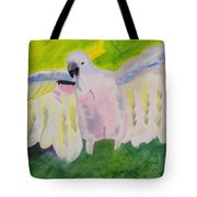 Pastel Feathered Cockatoo Tote Bag