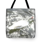 White Bird On Sparkly Water Tote Bag