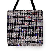 White Blocks With Added Color, Tote Bag