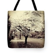 White Bloomers Tote Bag