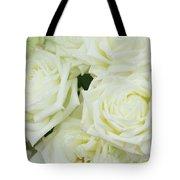 White Blooming Roses Tote Bag