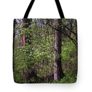 White Blossoms In The Woods Tote Bag
