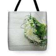 White Wedding Bouquet  Tote Bag