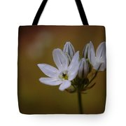 White Brodiaea Tote Bag