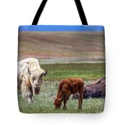 White Buffalo Tote Bag