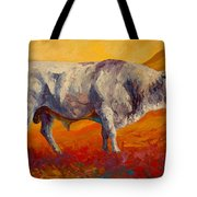 White Bull Tote Bag
