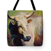 White Bull Portrait Tote Bag