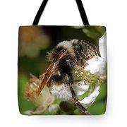 White Bumblebee Tote Bag