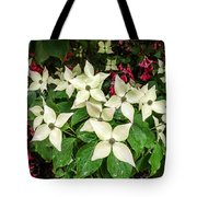 White Bunchberries In The Rain Tote Bag